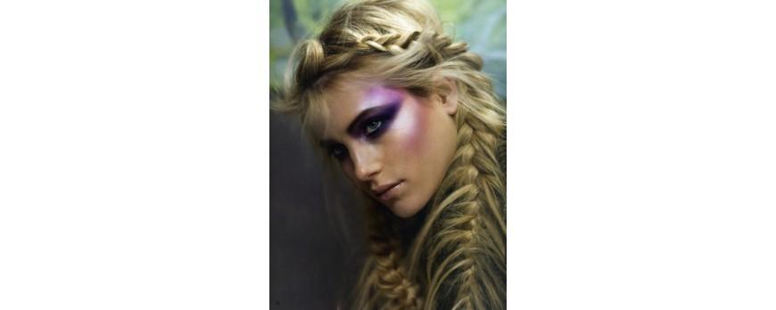 Oryginalne sploty długich włosów
